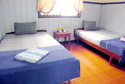Small twin room at guesthouse, Siem Reap, Cambodia, nr Angkor Wat