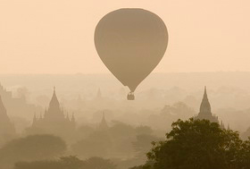Balloon over Angkor Wat, Cambodia