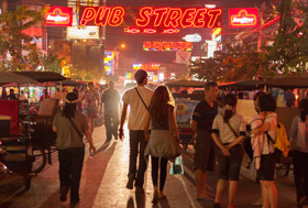 Night market & pub street Siem Reap