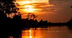 sunset near Siem Reap guest house