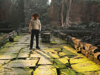 Tour guide at Angkor Wat, Cambodia