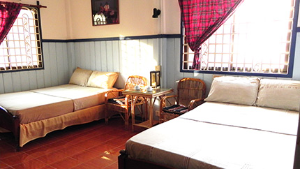 Family suite siem reap stay at Two Dragons Guesthouse