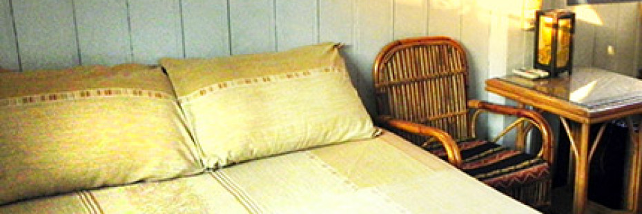 Double room at Two Dragons Guesthouse, Siem Reap, Cambodia, home of Angkor Wat